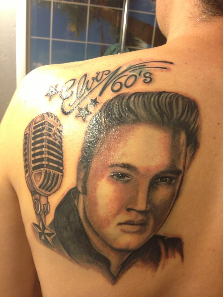 Oscar baron elvis presley other elvis impersonators mi for Elvis presley tattoos