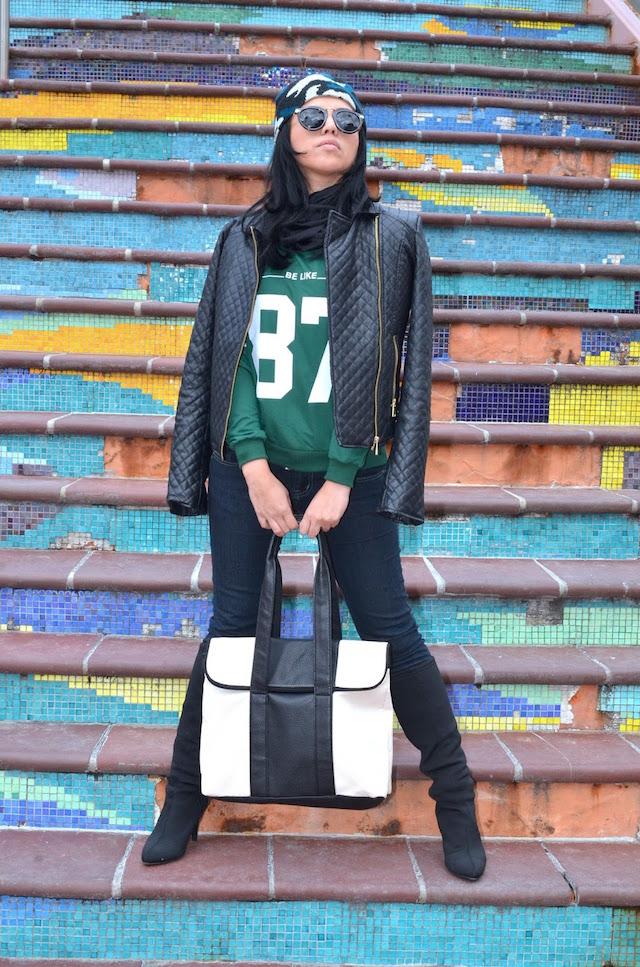 Cazadora De Cuero - #MariEstilo - Outfit para motocicleta - Look Rebelde - DCBlogger - Latina Blogger- Winter Style