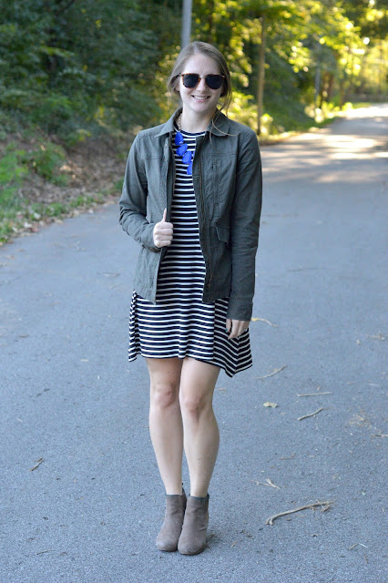 what to wear with a military jacket