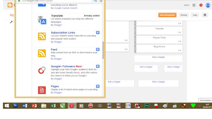 Membuat sitemap blogger