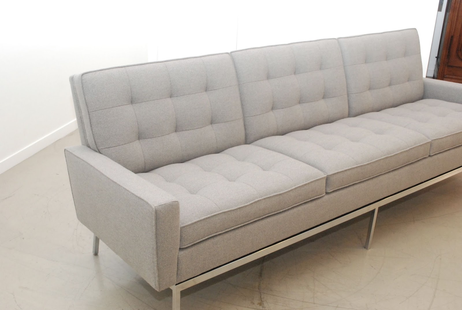 Classic Design Before After Vintage Florence Knoll Sofa