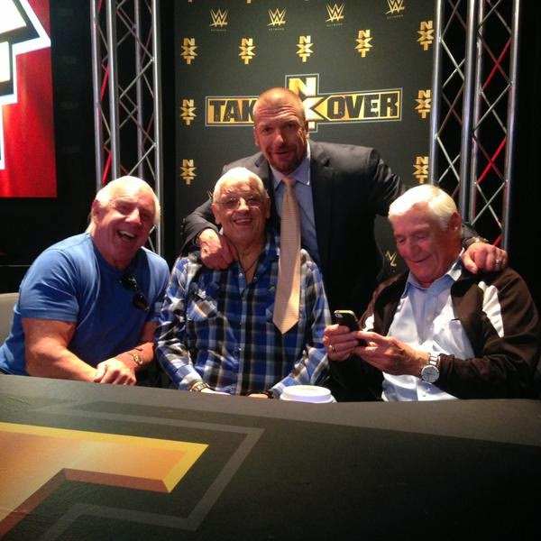 Photo of Ric Flair, Dusty Rhodes & Pat Patterson At NXT Takeover.