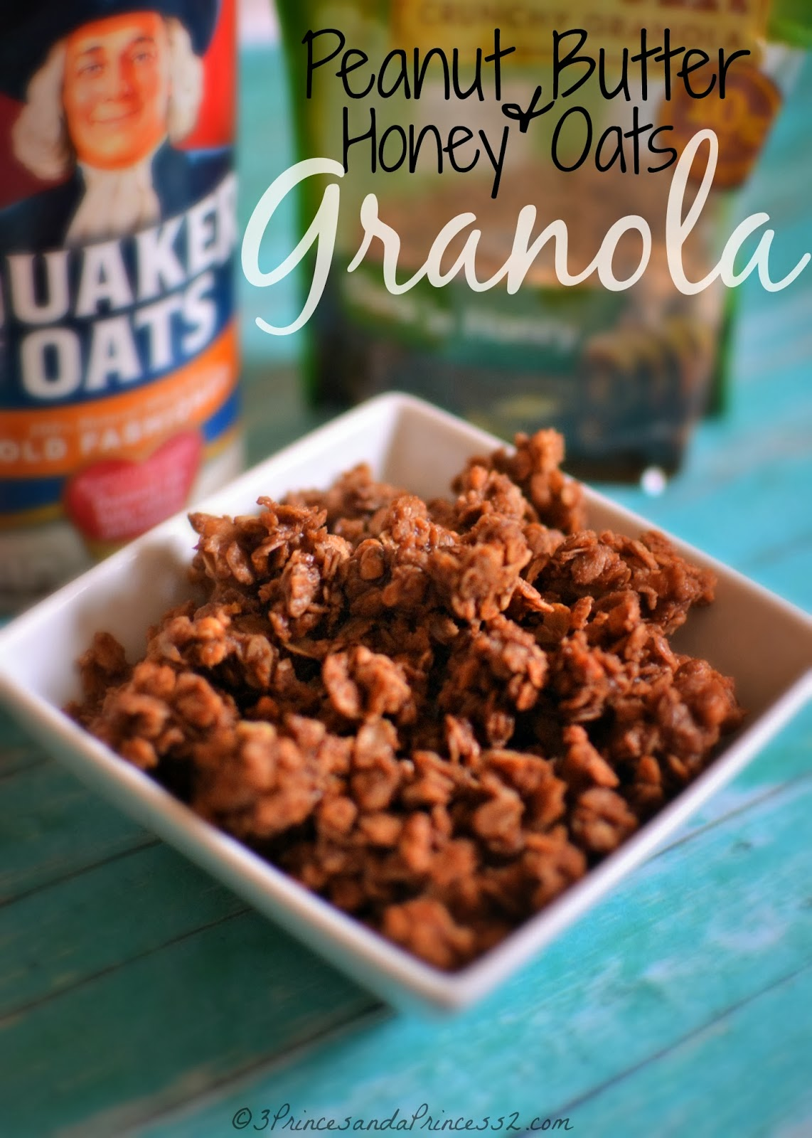A Granola Twist: Peanut Butter & Honey Oats Granola #Recipe