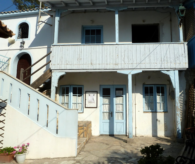 Traditionelle Architektur der Ionischen Inseln in Agios Nikitas (Lefkada)