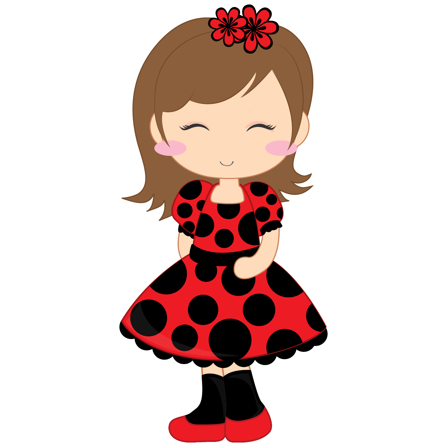 Girl and Ladybugs Clip Art. | Oh My Fiesta For Ladies!