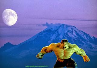 The Incredible Hulk Desktop Wallpapers Hulk Raging Fury Monster at Ascent Moon Blue Mountain
