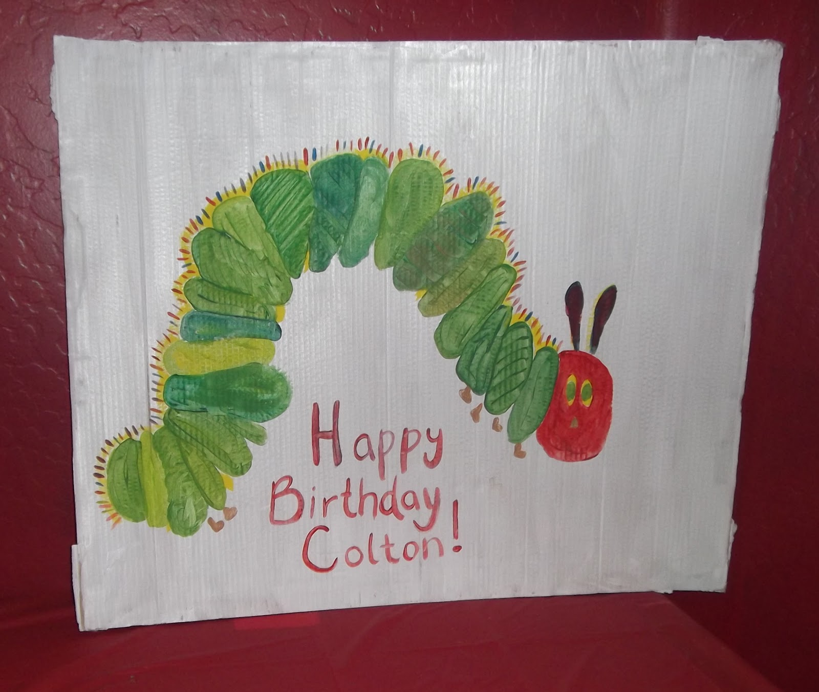 The Very Hungry Caterpillar Pages painted by Monica Jamer