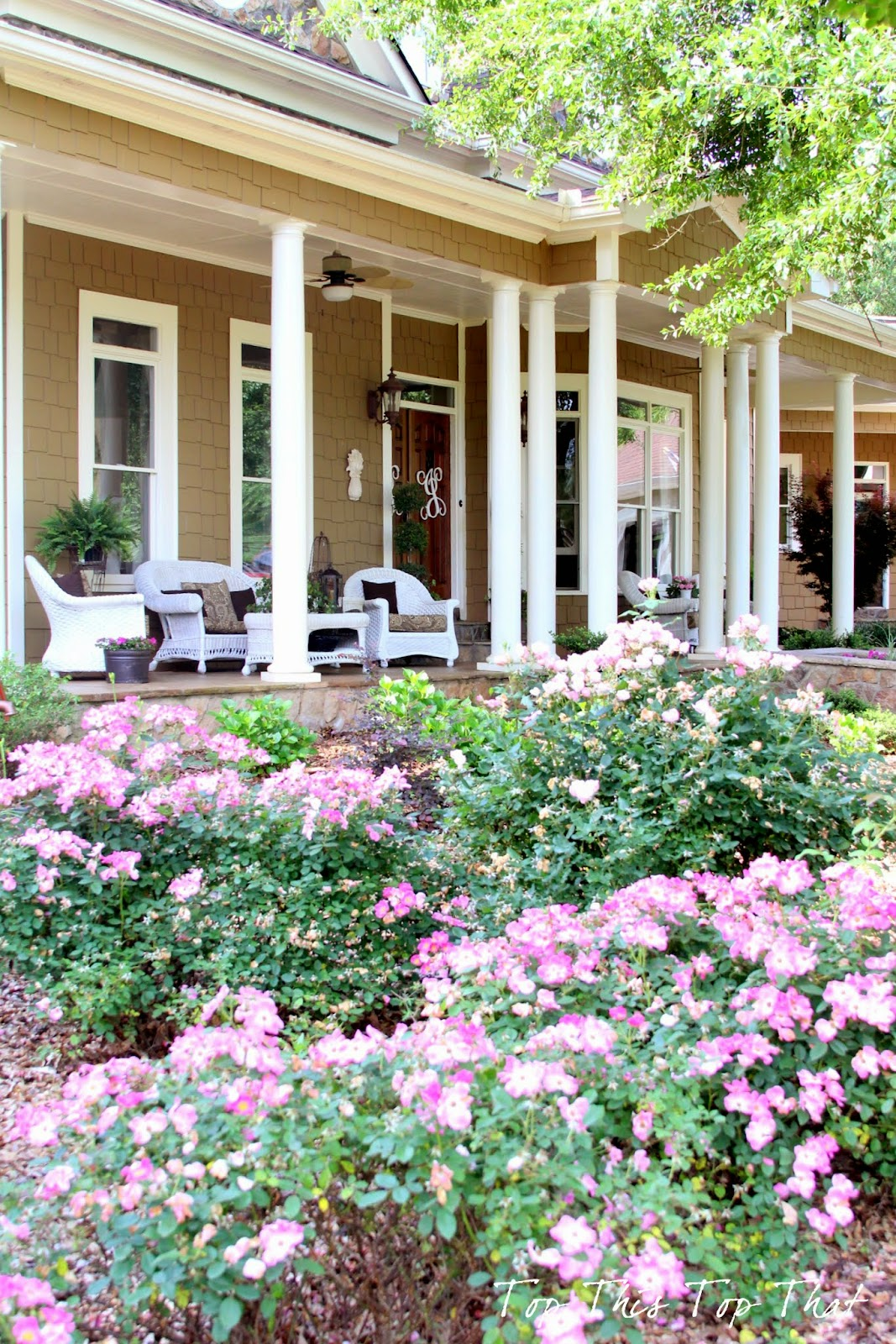 My summer 39 southern 39 front porch duke manor farm for Southern front porches