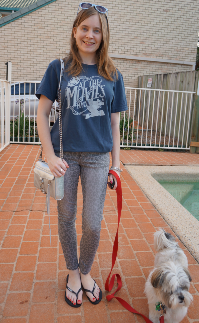 away from blue lifechurch at the movies tee grey skinny jeans