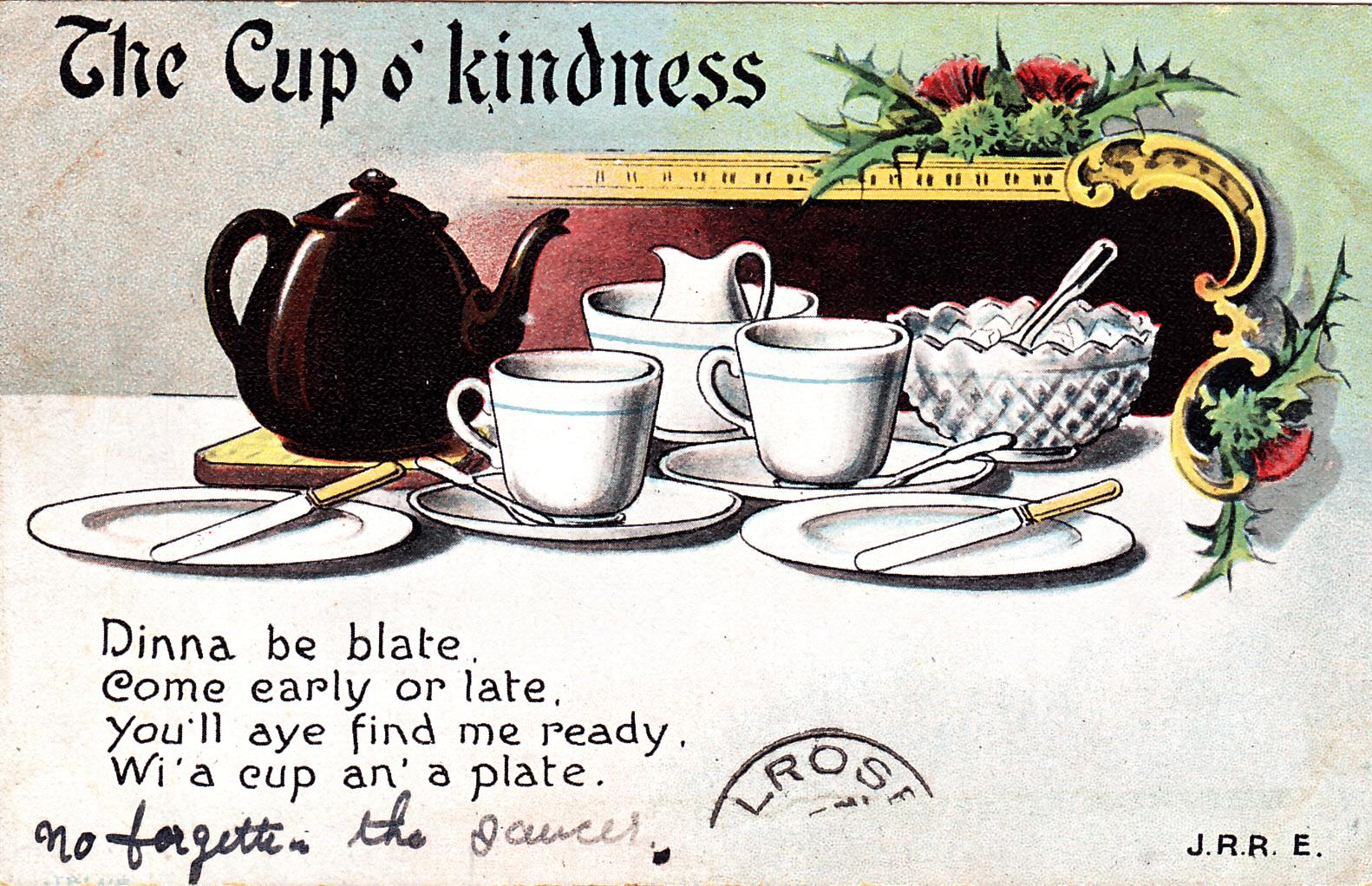 boulevard de l 39 antique tea time vintage postcard. Black Bedroom Furniture Sets. Home Design Ideas