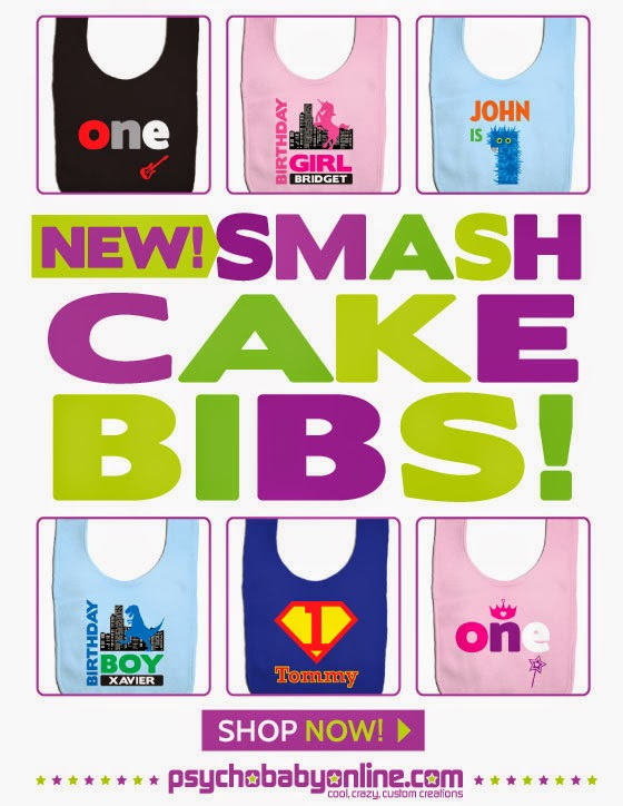 Personalized Smash Cake & First Birthday Bibs