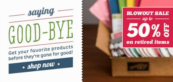 Stampin' Up! Blowout Sale on 2014 Retiring Products