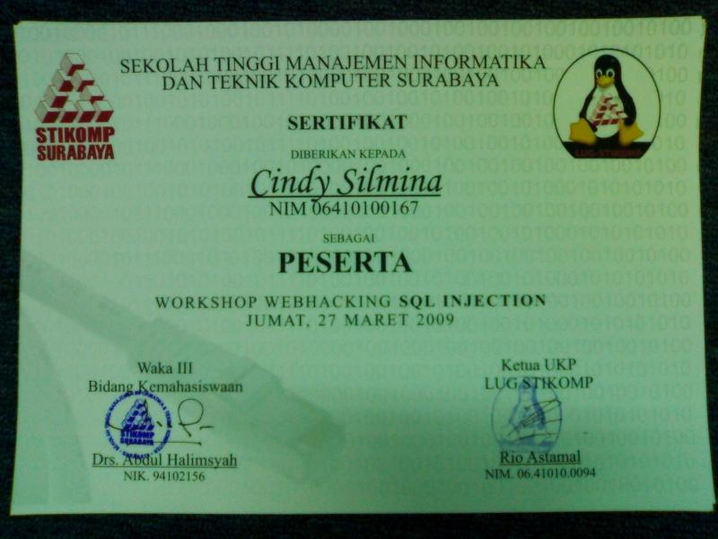 ... stikom surabaya sertifikat fakultas ekonomi gunadarma sertifikat paud