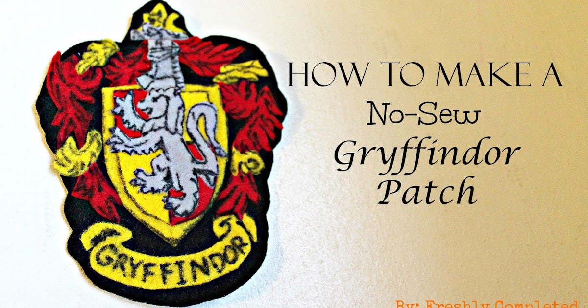 graphic relating to Hogwarts Crest Printable named Recently Done: How toward Deliver a No-Sew Gryffindor Patch