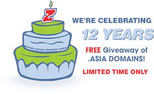 get free dot asia domain