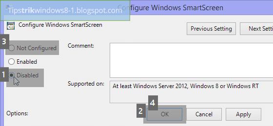 cara mengatasi windows smartscreen yang tidak bisa diaktifkan maupun dinonaktifkan