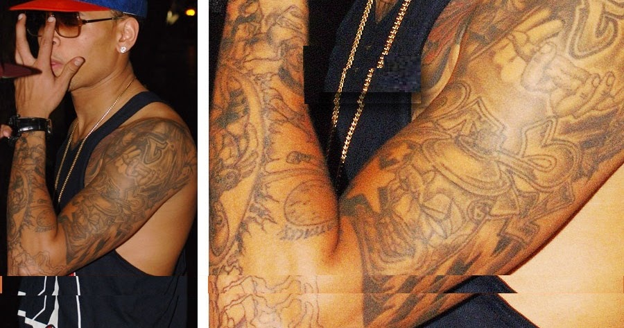 Chris brown no tattoos