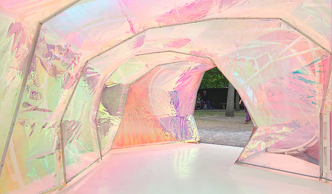 Serpentine Gallery, iridescent, pavillon