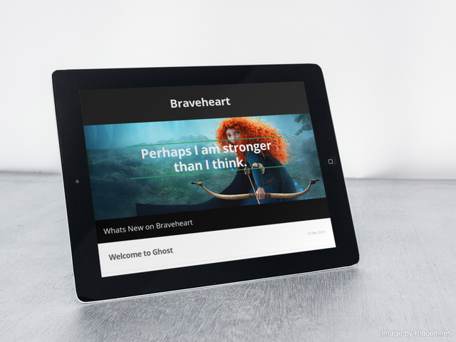 Brave responsive ghost theme