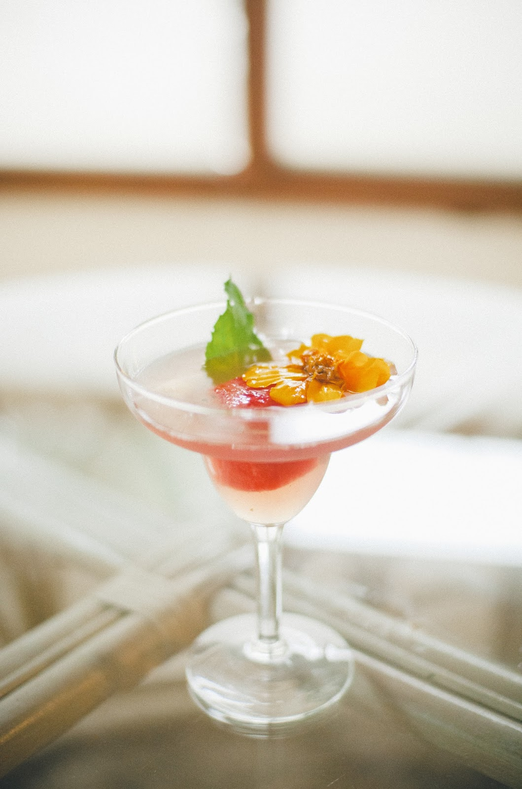 Lillet, St. Germain, Cocktail, Basil, Mint, Watermelon