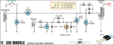 Gambar 5 Skema Rangkain Modul CDI Lengkap