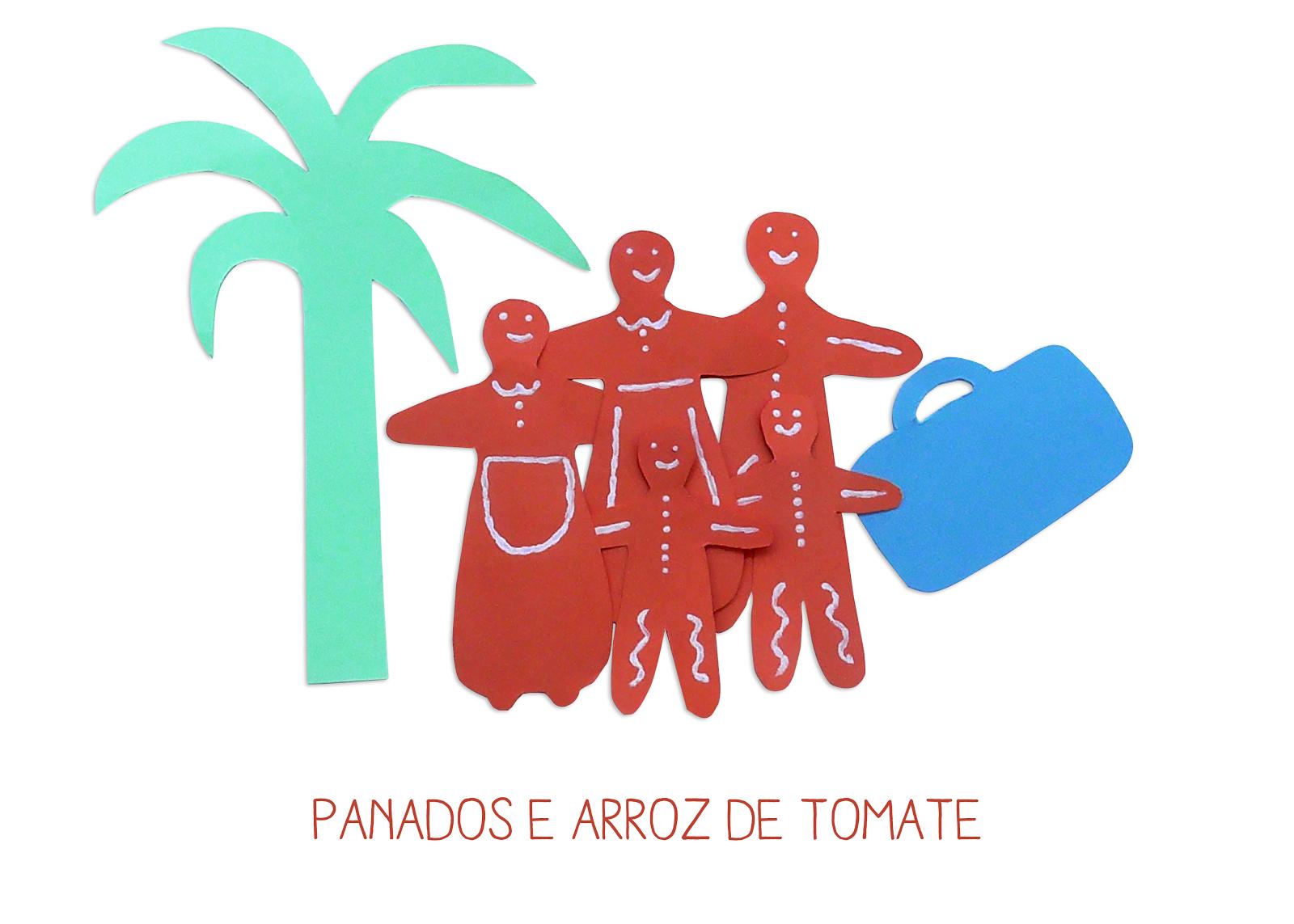 panados e arroz de tomate