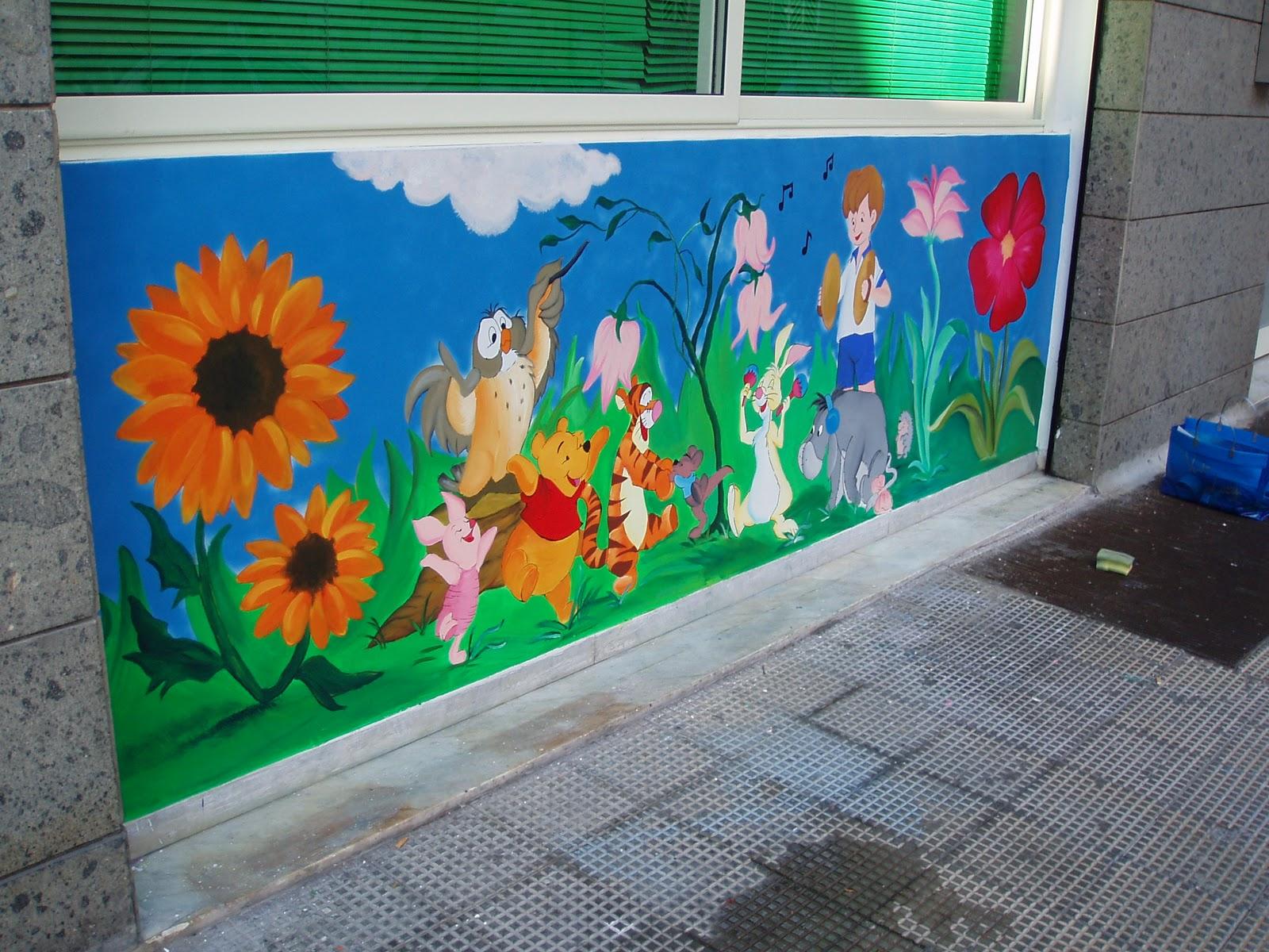 Segni di luglio dipinti murali destinati all 39 infanzia realizzati per contesti pubblici quali - Dipinti murali per interni ...