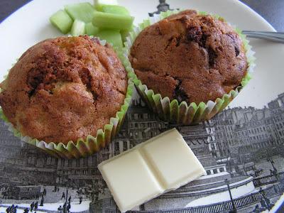 Les gourmandises de lydie muffins chocolat blanc rhubarbe - Tf1 recette cuisine 13h laurent mariotte ...