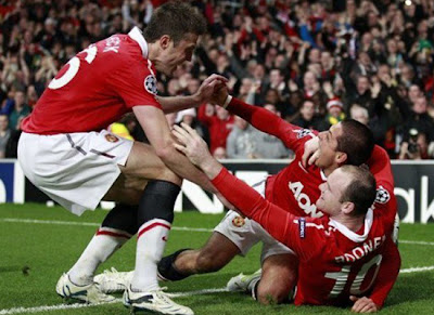 Manchester United Champions League hernandez rooney carrick