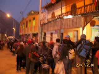 Viajeros esperando por regreso a Lima