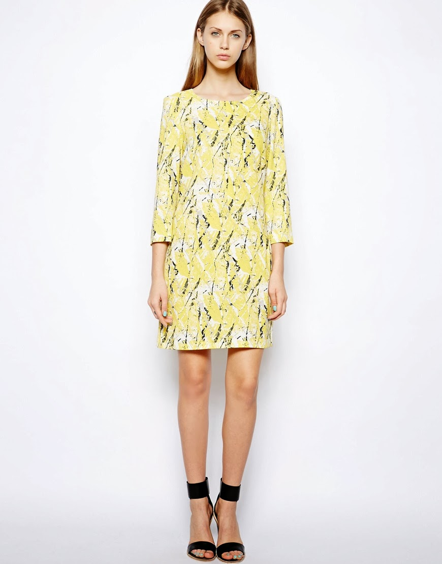 yellow pattern dress