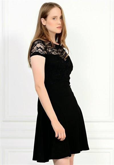 siyah elbise, dantelli elbise, garnili elbise, kısa elbise, 2015 elbise modelleri