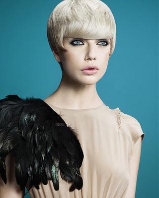 Moderne kurze Frisuren für runde Gesichter