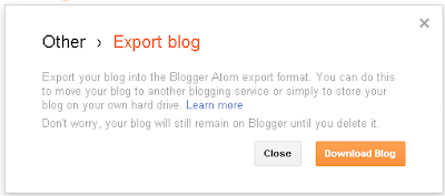 Backing up Blog Content on Blogger