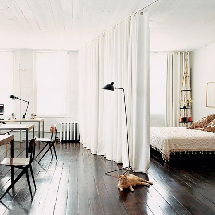 Senyoreta canyella ideas para separar ambientes en mini pisos for Cortinas para separar ambientes