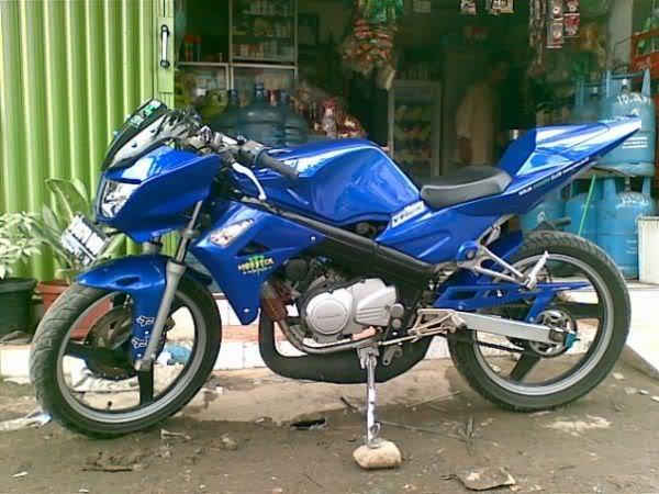 modifikasi motor ninja r warna biru  paling bagus