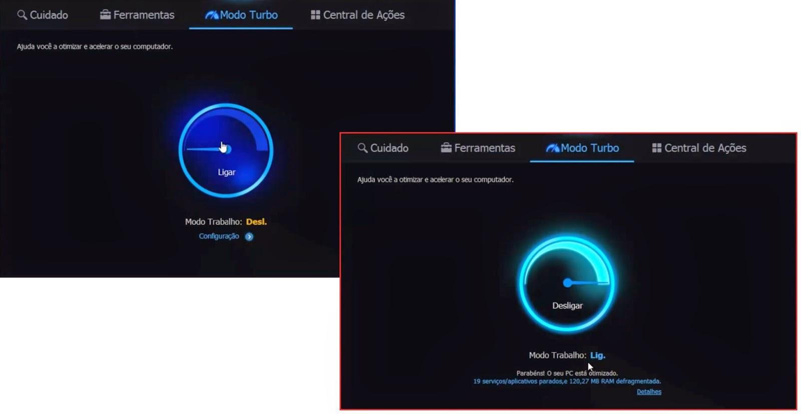 Advanced SystemCare - Modo turbo