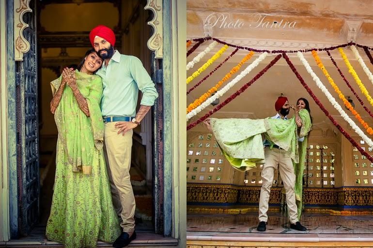 punjabi bride and groom