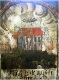 Romanian Sighisoara Biserica Manastirii Panting - Ovnis en la antigüedad