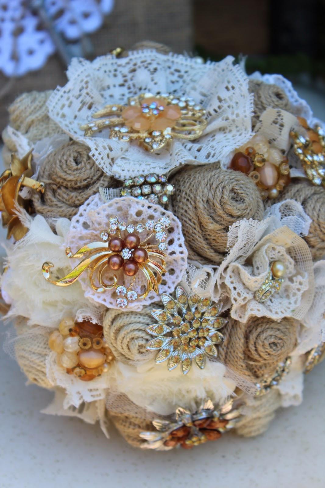 Vintage Glam Wedding Bouquet Brooch