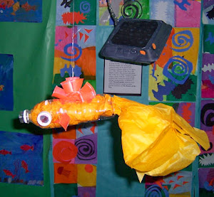 FISH SCULPTURE USING SCRAP MATERIALS