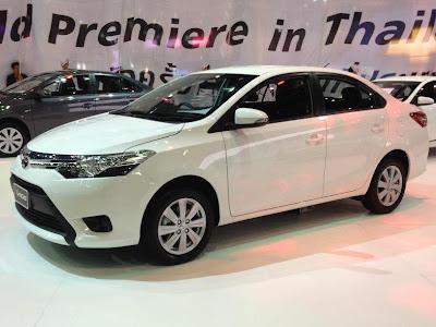 Toyota Vios apresenta-se com uma distância entre-eixos de 2.550 mm