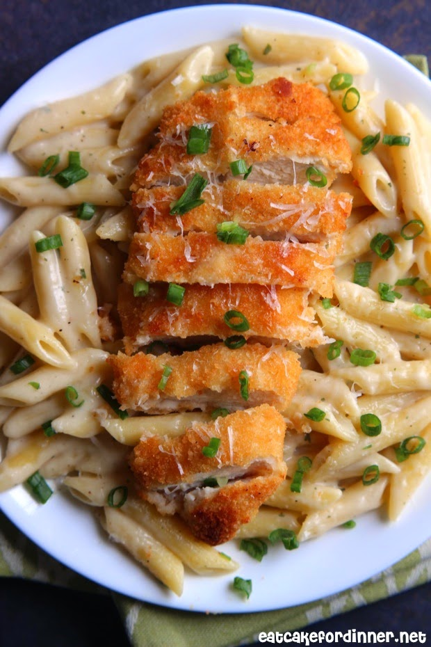 ... Cake For Dinner: 30-Minute Garlic Parmesan Pasta with Crispy Chicken