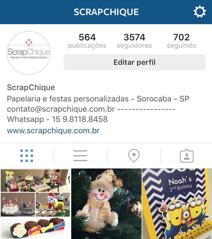 Siga-nos no Instagram! @ScrapChique