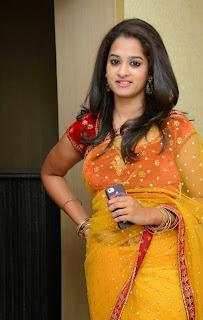 Actress Nanditha Raj Picture Gallery in Saree at Ram Leela Movie Audio Launch  17.JPG