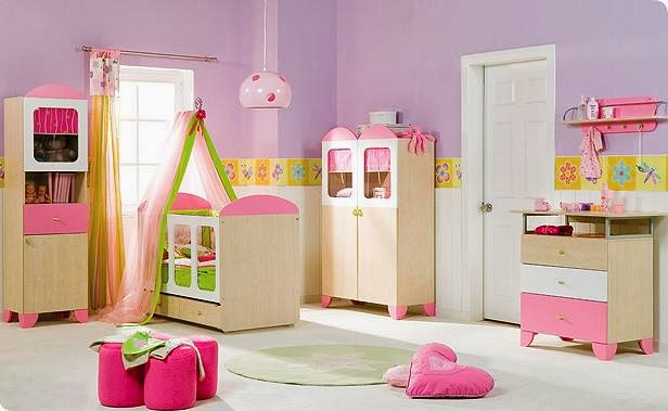 baby girl room ideas; pink color