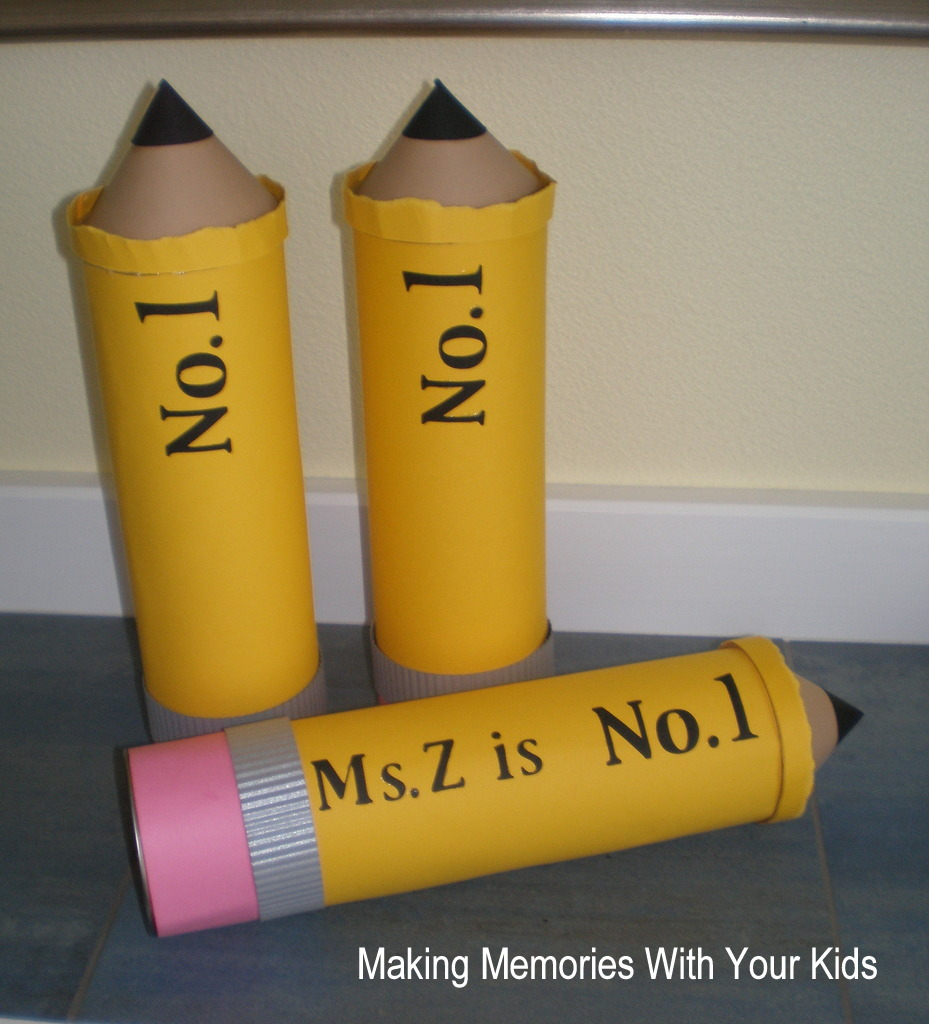 Giant Teacher Pencil Filled W Goos Reciation Making Memories With Your Kids