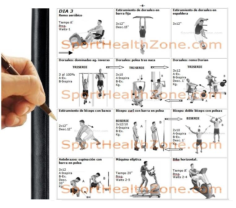 Rutina de ejercicios octubre 2013 for Gimnasio las tablas