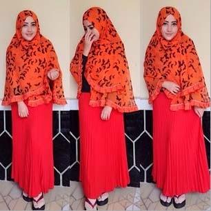 Hijab Khimar Bahan Sifon