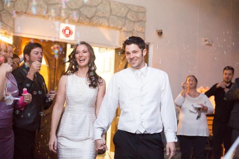 palm beach florida wedding bubble exit